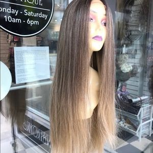 Ash blonde wig ombré brown Swisslace Lacefront wig